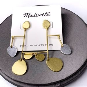 MADEWELL Metal Abstract Statement Earrings